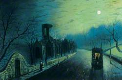 Kirkstall Abbey by Moonlight