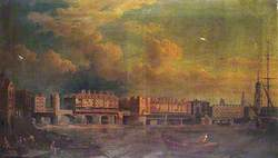 London Bridge before Alterations in 1757