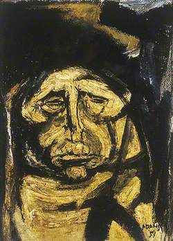 Study of an Old Woman for 'The Village Morality'