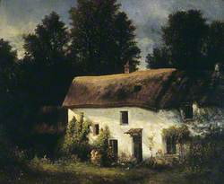 Landscape with a Thatched, Whitewashed Cottage