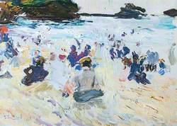 People Sitting on the Beach