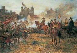 Oliver Cromwell at the Storming of Basing House