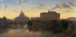 Rome, St Peter's and Castel St Angelo