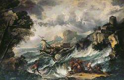 Seascape with Shipwreck
