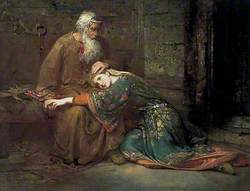 Cordelia Comforting Her Father, King Lear, in Prison
