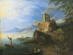 Sea Coast with the Temple of Vesta