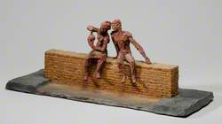 Maquette for a Sculpture: Boy and Girl Examining a Flask
