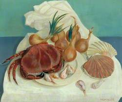 Still Life (Seafood and Onions)