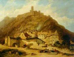 Part of St Goarhausen, on the Rhine, with the Castle of the Katz