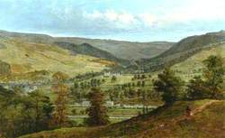 Cragg Valley and Stocks Hall from Broadbottom