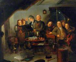 The Halifax Church Choir Practising at the 'Ring o' Bells' Inn