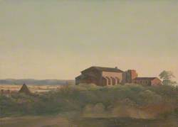 A View of the Church of St Sabina and the Pyramid of Cestius, Rome