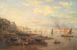 The Thames and Waterloo Bridge from Somerset House
