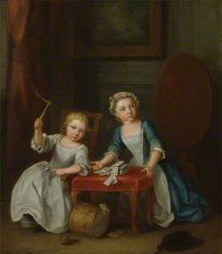 Children at Play, Probably the Artist's Son Jacobus and Daughter Maria Joanna Sophia