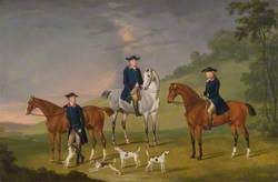 John Corbet, Sir Robert Leighton, and John Kynaston with their Horses and Hounds
