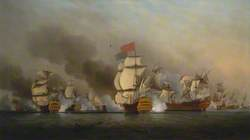 Vice Admiral Sir George Anson's 'Victory' off Cape Finisterre