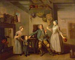 David Garrick and Mary Bradshaw in David Garrick's 'The Farmer's Return'
