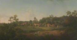 A Distant View of Hythe Village and Church, Kent