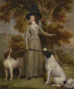 The Countess of Effingham with Gun and Shooting Dogs