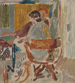 Vanessa Bell at Her Easel