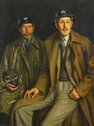 Two Air Raid Wardens, Lieutenant Colonel Eastman and Major Stepney