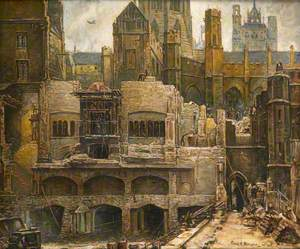 Demolition of the Blitzed House of Commons