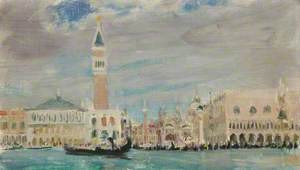 Venetian Scene, Doge's Palace and St Mark's