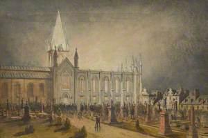 Fire in St Nicholas Kirk, Aberdeen