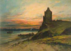 Castle Ruins on a Cliff Edge