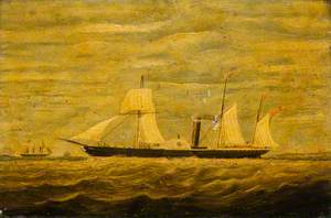 A Paddle Steamer, Aberdeen to London Service