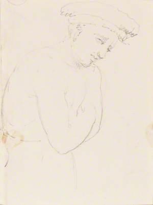 Avignon – Sketch of a Man (on verso)