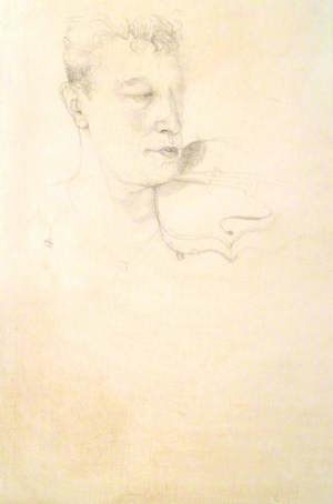 Study for 'Portrait of Paul Anderson'