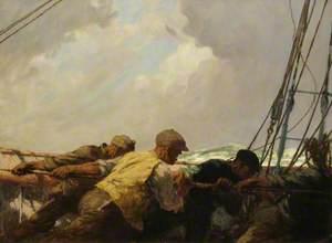Hauling the Mainsail