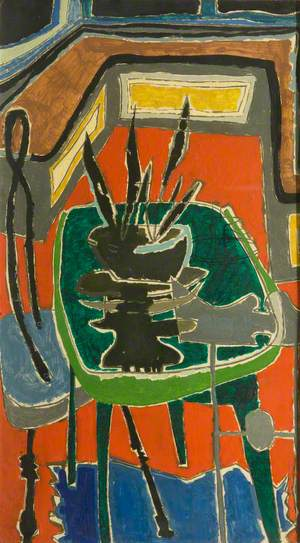 Green Table on Red Floor: 1954