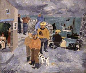 Cornish Fishermen, the Quay, St Ives