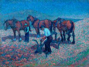 Ploughing on the Downs