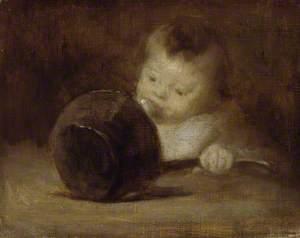 Enfant avec une casserole