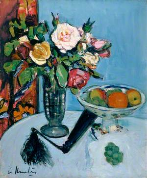 Still Life (Roses and a Black Fan)