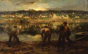 Salmon Fishers on the Dee at Kirkcudbright