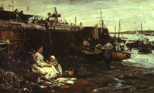 Fisherfolk at St Ives, Cornwall