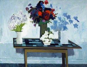 Three Jugs of Flowers