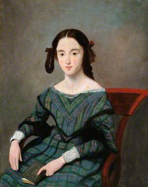 Portrait of a Girl in a Tartan Dress
