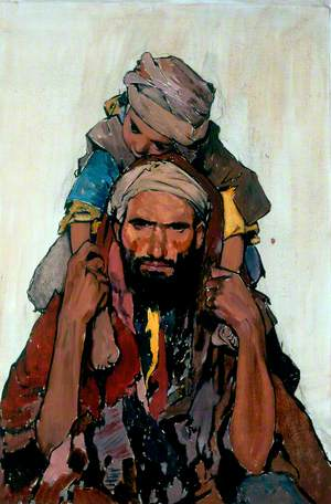 Arab Man with a Child