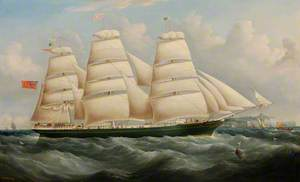 Clipper Ship 'Glengairn' off Dover, Kent