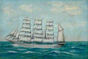 Four-Masted Barque in Calm Seas