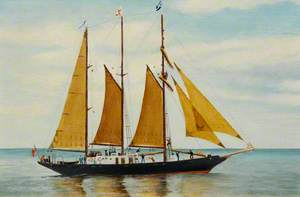 The Sail Training Ship 'Malcolm Miller' during the 1991 Tall Ships Race at Aberdeen