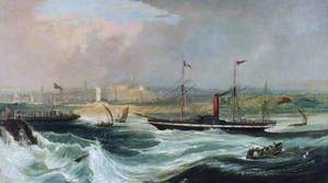 Paddle Steamer 'Sovereign' Entering Aberdeen Harbour