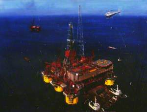 Mating, Conoco's Hutton Tension Platform