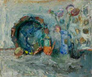 Flowers, Blue Jug