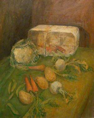 Still Life with a Basket and Vegetables